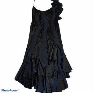 Vintage TADASHI SHOJI Black Evening Gown